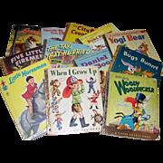 12 Children's Books, Tell-A-Tale, Little Golden, Tip-Top Elf
