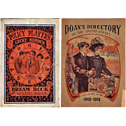 1930's Policy Players Lucky Number Dream Book and Napoleon's Oraculum and 1912-13 Doan's Dir