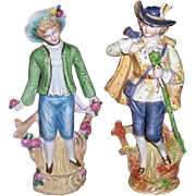 Two Colonial Bisque Figures Occupied Japan Andrea and Paulux