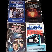 Four Star Trek, Close Encounters, and Battlestar Galactica Paperback Books