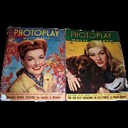 1943 Photoplay Movie Mirror Magazines, May and November