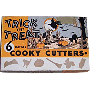 1950's Treat or Treat Metal Cooky Cutters