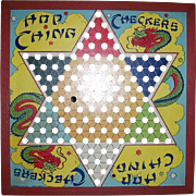 1953 Wood Frame Hop Ching Checkers Board