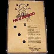 Vintage 1933 Social Headaches Party Game by G.E. Schweig & Son