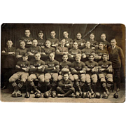 1923 Stack's Red Jacks Football Team Photo Postcard