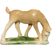 """SALE Very Early WADE china horse tiny figurine - NOT a """"whimsy"""""""