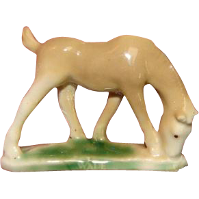 """Very Early WADE china horse tiny figurine - NOT a """"whimsy"""""""
