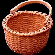 Sweet Little Red Oak Splint Swing Handle Taghkanic Signature Basket