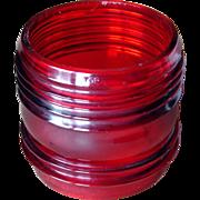 SALE Red Fresnel Railroad Lantern Globe