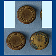 Three Antique Brass Fitchburg Railroad Buttons