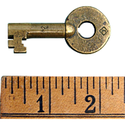 Erie Railroad Diamond-E logo Brass Switch Key