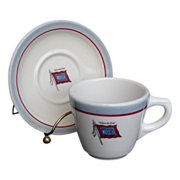 "Wabash Railroad ""Banner"" China Cup & Saucer Set"