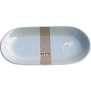 New York Central Railroad Mercury China Celery Dish