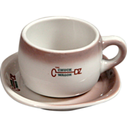 SALE CB&Q Railroad China Chuck Wagon Cup & Saucer Set