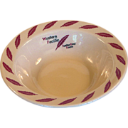 Western Pacific Railroad China Feather River Cereal Bowl