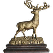 SALE Early Albany (NY) Foundry 3/4 Body Stag Deer Cast Iron Doorstop