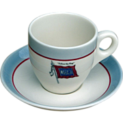 Wabash Railroad China Demitasse Cup & Saucer Set