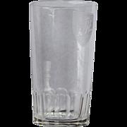 SOLD Delaware & Hudson Railroad Fluted Bottom Drinking Glass