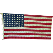Larger 48-Star American Flag Bulldog Bunting by Dettras of Pennsylvania Vintage Pre-1959