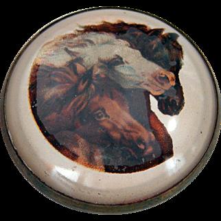 "SALE ""Pharaoh's Horses"" Bridle Rosette Pin Conversion"