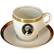 "Chesapeake & Ohio Railroad China ""George Washington"" Demitasse Cup and Saucer Set"