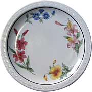 "Southern Pacific Railroad ""Prairie Mountain Wildflowers"" China Dinner Plate"