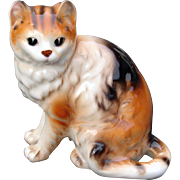 Older Calico Cat Sweet Faced China Figurine Made In Japan
