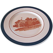 "REDUCED MK&T Railroad China Blue ""Alamo"" Service Plate"