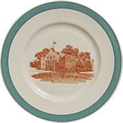 "Missouri Kansas & Texas RR Big Green ""Alamo"" Railroad China Plate"