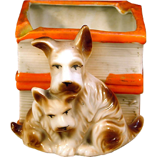 Scottie Dog Family Vintage Made in Japan Container