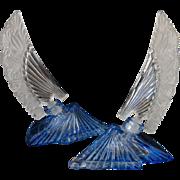 SOLD Gorgeous Art Deco Czech Feather Perfume Bottles