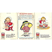 1907/14 Trio of Original Advertising Postcards, Campbells soups & KAPTIN KIDDO