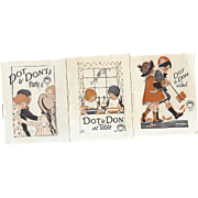 SALE c1915 Scarce Trio Of Miniature Books, Don & Dot, Childrens Etiquette, Thoroughbred Series