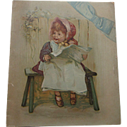 Rare Victorian FOSTER & COMPANY PIANOS Advertising Childrens Book Color Lithos, Lovely