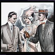 Mens Edwardian Clothing Antique Advertising 1913 Catalog Page Cigars
