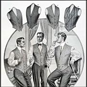 1913 Antique Advertising Men's Vests Clothing Catalog Billiards