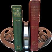 Vintage 1930s Art Deco Vintage Spring Steel Bookends