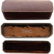 Early 1900's Cravat Necktie Stick Pin Box Velvet Octagon