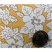 SOLD 1920s - 1930s Cotton Vintage Sewing Fabric Goldenrod Quilts