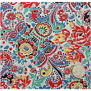 SOLD Rare 1920s Bohemian Print Cotton Percale Quilt Fabric Textile Collection