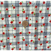 Thick Vintage Cotton Flannel Small Quilt Project Red Black