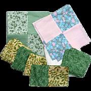 SALE Cotton Quilt Blocks Cut Pieces Unfinished Lot Quilting Squares