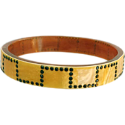 SALE 1920s Art Deco Celluloid Bangle Bracelet Downton Abbey Era.
