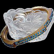 Art Deco 1920s Celluloid Bangle Bracelet Rhinestones Rare Find