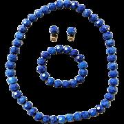 SALE Vintage 1950s Pop Beads Necklace Bracelet Earrings NOS