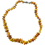SALE Vintage Raw Amber Bead Necklace 75 + Beads