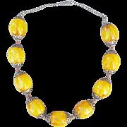 SALE Dramatic Bakelite Bead Necklace Vintage Ethnic Design