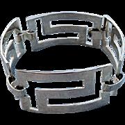 SALE Sterling Silver Bracelet Mid Century Links 25.7 Grams