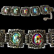 SALE 1960s Fancy Vintage Bracelet Chunky Charm Designer Judy Lee