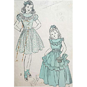 1940s Child's Dress Fancy Formal Size / Age 4 Flower Girl Wedding
